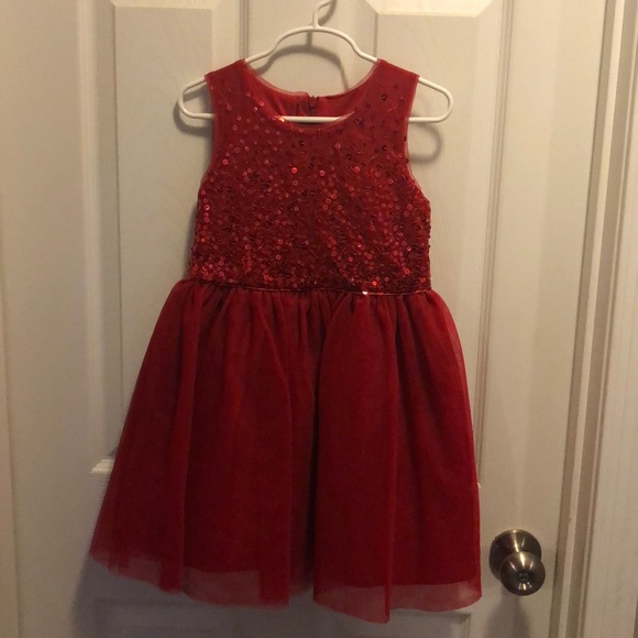 little girls red christmasparty dress